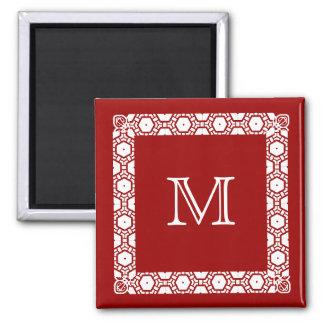 Marcador con monograma de la puerta de Stateroom Imán Para Frigorífico