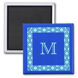 Marcador con monograma de la puerta de Stateroom Imán De Frigorífico