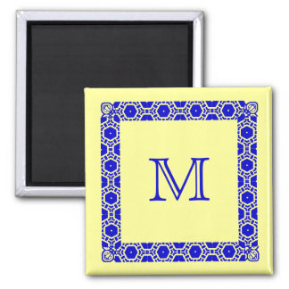 Marcador con monograma de la puerta de Stateroom Iman De Frigorífico