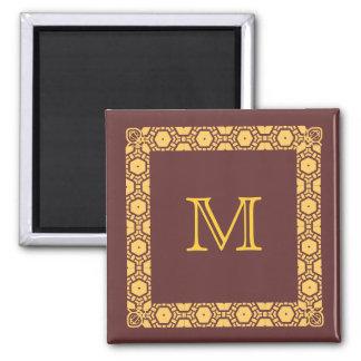 Marcador con monograma de la puerta de Stateroom Imán De Nevera