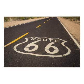 Marcador de la carretera de la ruta 66, Arizona Cuadro De Madera