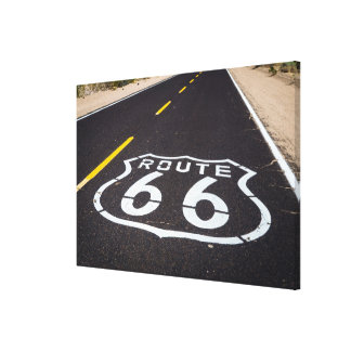 Marcador de la carretera de la ruta 66, Arizona Impresión En Lona