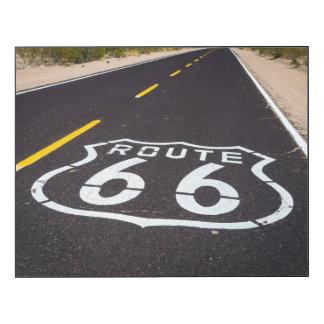 Marcador de la carretera de la ruta 66, Arizona Impresión En Madera