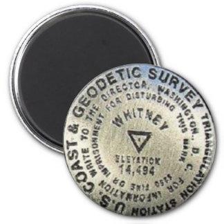 Marcador de la cumbre del Mt. Whitney Imán Redondo 5 Cm