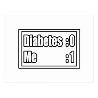 Marcador de la diabetes tarjetas postales