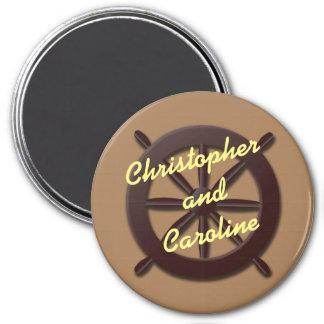 Marcador de la puerta de Stateroom de la rueda del Imán Redondo 7 Cm