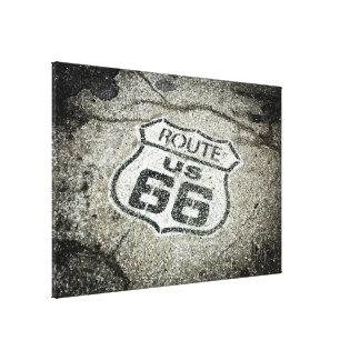 Marcador de la ruta 66 impresiones de lienzo