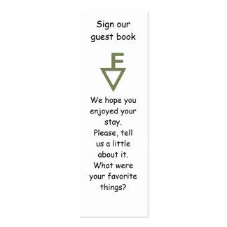 Marcador de libro de visitas de la familia de tarjetas de visita mini