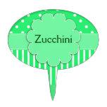 Marcador decorativo verde y blanco bonito de la pl decoraciones para tartas