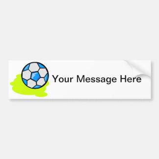Marcador del fútbol pegatina de parachoque