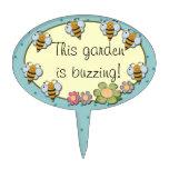 Marcador del jardín de las abejas o figuras de tarta