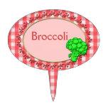 Marcador del jardín del bróculi o decoraciones de tartas