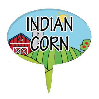 Marcador del jardín del maíz indio figuras para tartas
