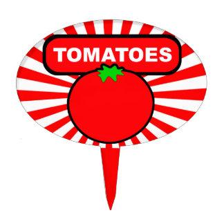 Marcador del jardín/participación para los tomates palillos de tarta