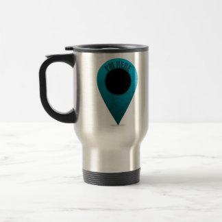 Marcador del mapa taza de café