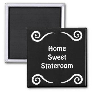 Marcador dulce casero de la puerta de Stateroom Imán Cuadrado