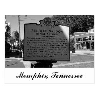 Marcador histórico Memphis Tennessee del salón Postal