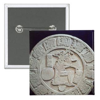 Marcador maya de la corte de la bola, de Chinkulti Pin Cuadrado