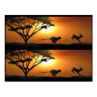 Marcadores de libro del guepardo y del Gazelle Tarjetas Postales