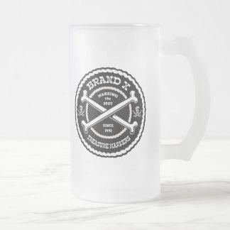 Marcadores del tesoro de la marca X Taza De Cristal