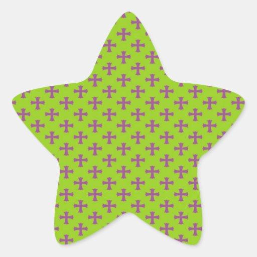 Marcadores graves en fondo verde colcomanias forma de estrellaes personalizadas