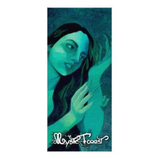 "Marcapáginas/Bookmarker ""Mystic Forest "" Rack Card"