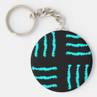 Marcas azules y negras de la garra llavero redondo tipo pin