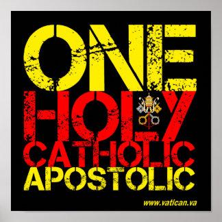 Marcas de la iglesia católica póster
