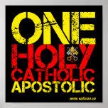 Marcas de la iglesia católica posters