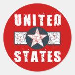Marcas del ala de WWII Etiqueta Redonda