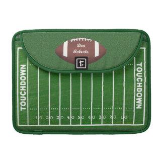 Marcas del fútbol y de las yardas en un campo de funda para macbook pro