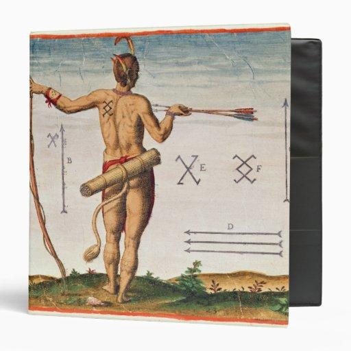 "Marcas distintivas de un guerrero de Virginia Carpeta 1 1/2"""