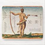 Marcas distintivas de un guerrero de Virginia Mousepad