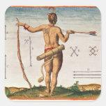 Marcas distintivas de un guerrero de Virginia Pegatina Cuadrada