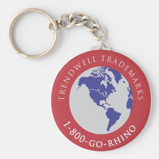 Marcas registradas de Trendwell Llavero Redondo Tipo Pin