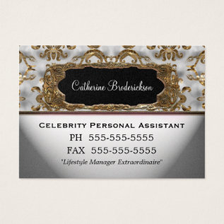 Marcee Personal Assistant Professional Business Card at Zazzle