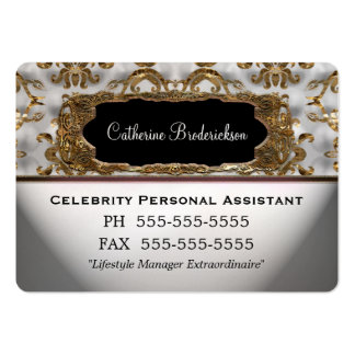Marcee Personal Assistant Professional Round Edge Large Business Cards (Pack Of 100)