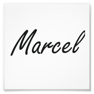 Marcel Artistic Name Design Photo Print