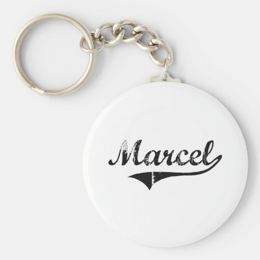 Marcel Classic Style Name Keychains