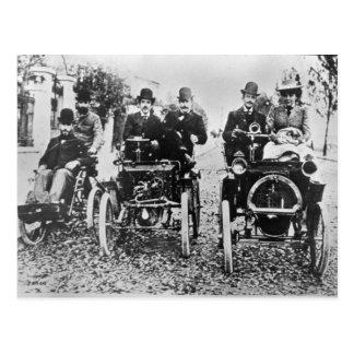 Marcel (d.1903) and Louis (1877-1944) Renault driv Postcard