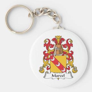 Marcel Family Crest Keychain