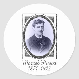 Marcel Proust Classic Round Sticker