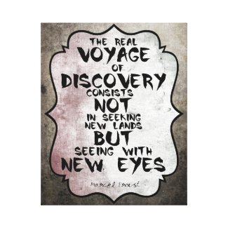 Marcel Proust famous quote about voyage Canvas Print