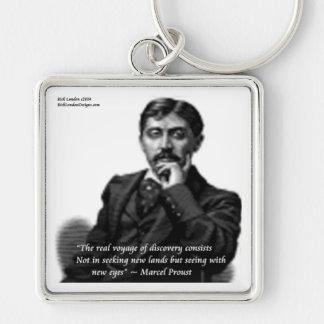 Marcel Proust & Famous Quote Keychain