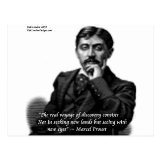 Marcel Proust & Famous Quote Postcard