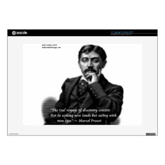 """Marcel Proust & Famous Quote Skin For 15"""" Laptop"""