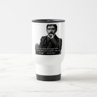 Marcel Proust & Famous Quote Travel Mug