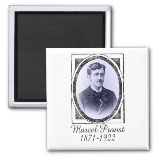 Marcel Proust 2 Inch Square Magnet