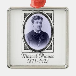 Marcel Proust Metal Ornament