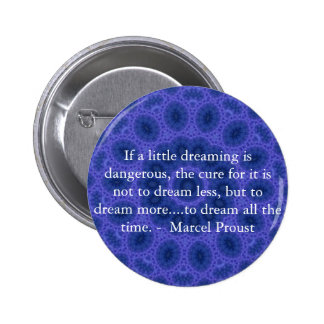 Marcel Proust quote about dreamers and dreaming Pinback Button